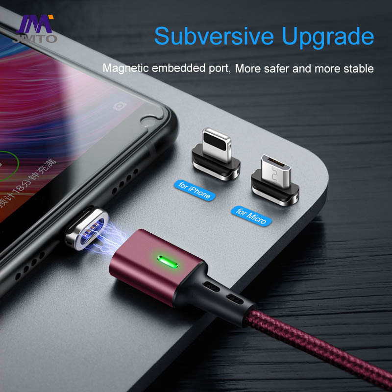 USB2.0 A To MCIRO+TYPE-C+IPHONE 3 IN1 Cable Estar LED Magnetic Cable